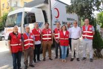 TÜRK KıZıLAYı - Antalya'dan Suriye'ye Tır Dolusu İnsani Yardım Malzemesi