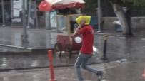 Kırıkkale'de Sağanak Yağmur Hayatı Olumsuz Etkiledi