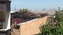 SAĞLIK EKİBİ - Gaziosmanpaşa'da 2 Katlı Binanın Çatı Katı Alev Alev Yandı
