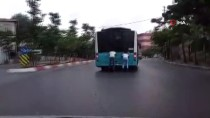 (Özel) Sultanbeyli'de Patenli Gençlerin Tehlikeli Yolculuğu Kamerada