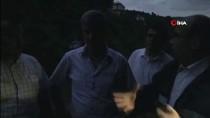 Araklı'daki Sel Sonrası Vali Ustaoğlu Ve Beraberindekiler Çamlıktepe Mahallesine Ulaşmaya Çalışıyor