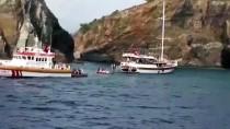 GEZİ TEKNESİ - Muğla'da Karaya Oturan Teknedeki 39 Kişi Tahliye Edildi