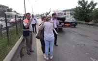 ZİNCİRLEME KAZA - (Özel) E-5'Te Kadın Sürücüyü Gözyaşlarına Boğan Zincirleme Kaza