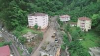 Trabzon'un Araklı İlçesinde Bugün Sel Ve Heyelanların Yaşandığı Çamlıktepe Mahallesi 4 Gün Önce Böyle Görüntülenmişti