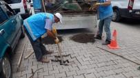 AŞIRI YAĞIŞ - Ünye'de Yağış Sonrası Onarım Ve Temizlik Çalışması