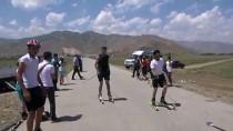 BİTLİS - Muş'ta Tekerlekli Kayak Yarışması