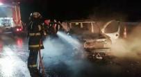 Kuzey Marmara Otoyolu'nda Alevlere Teslim Olan Araç Küle Döndü