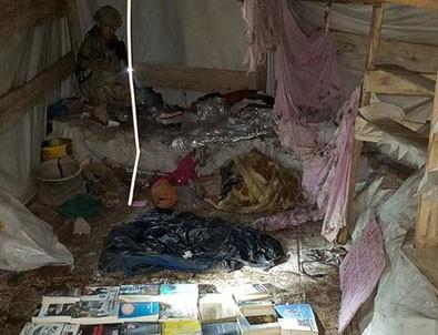 Teröristlerin kullandığı 3 katlı mağaraya operasyon