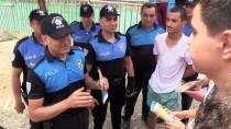 Polis Çocukları Sulama Kanalından Çıkarıp Havuza Götürdü