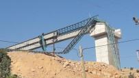 Siirt'te Köprü Yapımında Kullanılan Vinç Devrildi Açıklaması 1 Yaralı