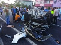 Samsun'da Otomobil Takla Attı Açıklaması 5 Yaralı