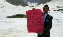 4 Bin 135 Rakımda 'Çocuk İstismarı' Mesajı