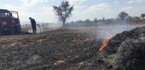 Küçükköy'de Anız Ve Ekin Yangını