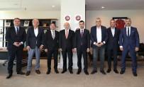 HASAN DOĞAN - Kulüp Başkanlarından Nihat Özdemir'e Ziyaret