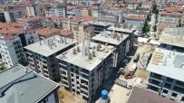 MURAT KURUM - (Özel) Kartal'da Yıkılan Binaların Yerine Yeni Yapılan Binaların Çatıları Yapılmaya Başlandı