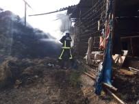 Bursa'da Ahırda Çıkan Yangında 10 Ton Buğday Kül Oldu