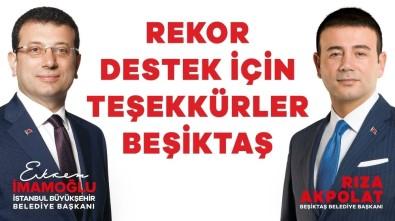 Beşiktaş'tan Ekrem İmamoğlu'na Yüzde 83,9 Destek