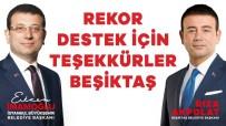 Ekrem İmamoğlu - Beşiktaş'tan Ekrem İmamoğlu'na Yüzde 83,9 Destek