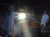 Buzdolabı evi yaktı!