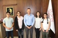 LGS'de Derece Yapan Öğrencilerden Milli Eğitim Müdürü Tekin'e Ziyaret