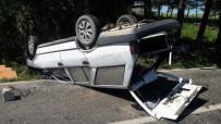 Otomobil Takla Attı Açıklaması 2 Yaralı
