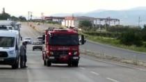 Manisa'da Fabrikanın Çatısında Yangın