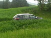 Kastamonu'da Otomobil Tarlaya Uçtu Açıklaması 3 Yaralı