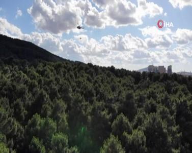 Aydos Ormanı'ndaki Yangına Helikopterle Müdahale Edildi
