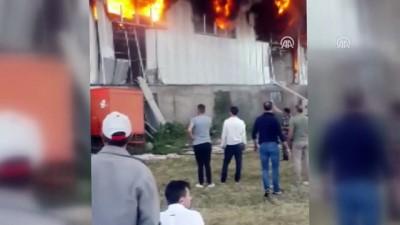 Erzurum'da Depo Yangını