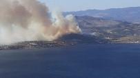 İzmir'deki Yangın Yazlık Evlere Doğru İlerliyor