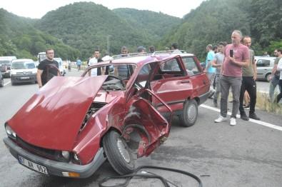 Zonguldak'ta Meydana Gelen Kazada 1'İ Ağır 5 Kişi Yaralandı