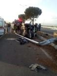 Takla Atan Otomobil Sürücüsü Araç İçinde Sıkıştı