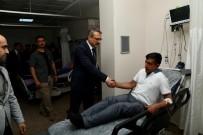 Vali Ekinci, Kazada Yaralananları Ziyaret Etti