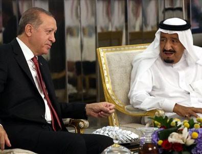 Cumhurbaşkanı Erdoğan ile Suudi Arabistan Kralı Selman görüştü