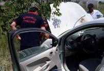Kaza Yapan Araç Alev Aldı Açıklaması 4 Yaralı
