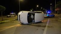 Otomobilin Takla Attığı Yere Sonradan Gelen Kişi, Sürücü Olduğuna Polisi İkna Edemedi