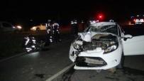 OYMAPıNAR - Otomobille Çarpışan Motosiklet Sürücüsü Hayatını Kaybetti