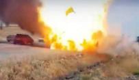 Alev Alan LPG'li Araç Bomba Gibi Patladı