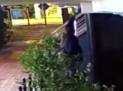 Bir evden drone çalan hırsız kamerada