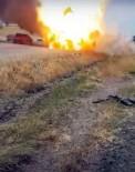 Diyarbakır'da alev alan LPG'li araç bomba gibi patladı