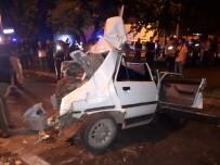 Zincirleme Kazada Araçlar Hurdaya Döndü