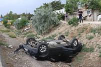 Burdur'da Otomobil Devrildi Açıklaması 4 Yaralı