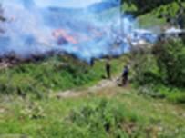 Çorum'da Köy Yangını Açıklaması 7 Ev Kül Oldu