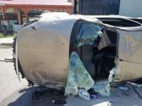 Erzurum'da Otomobil Takla Attı Açıklaması 1 Ölü, 4 Yaralı