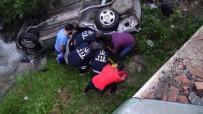 Tokat'ta Otomobil Dereye Uçtu Açıklaması 4 Yaralı