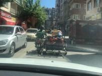 3 Tekerlekli Motorda 7 Kişilik Tehlikeli Yolculuk