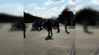 (Özel) Araç Muayene İstasyonunda Elektroşok Cihazıyla Görevlilere Saldıran Şahıs Kamerada
