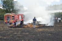 Tokat'ta Buğday Tarlasında Korkutan Yangın