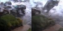ŞİDDETLİ FIRTINA - ABD'de Fırtına Aracı Ters Çevirdi
