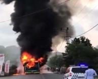 Beykoz'da Belediye Otobüsünün Alevlere Teslim Olduğu Anlar Kamerada